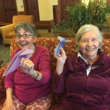 Paper airplanes at Eagan Pointe Senior Living