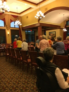 Maple Street Ramblers-Eagan Pointe Senior Living-seniors applauding the dancers
