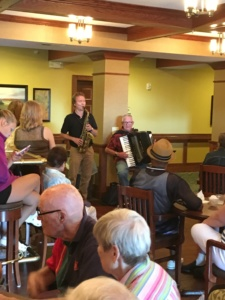 July Birthday Party-Eagan Pointe Senior Living-tenants enjoying jazz band