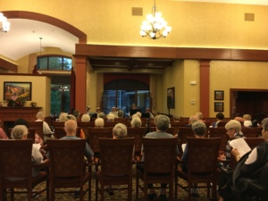 Maple Street Ramblers-Eagan Pointe Senior Living-watching entertainment