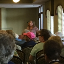 Bird Show-Eagan Pointe Senior Living-Tracy teaching the seniors about their birds