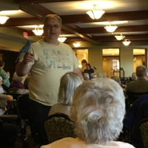 Bird Show-Eagan Pointe Senior Living-Tenants getting a close up of the birds