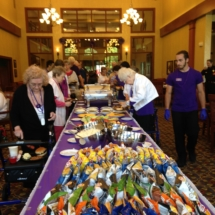 national-night-out-alzheimers-association-fundraiser-eagan-pointe-senior-living-tenants putting in their raffle tickets