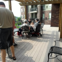 Grandparents Day-Eagan Pointe Senior Living-enjoying the outdoors