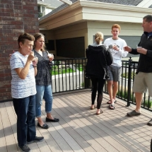 Grandparents Day-Eagan Pointe Senior Living-socializing outside