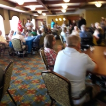 Grandparents Day-Eagan Pointe Senior Living-tenants and family enjoying the ice cream social