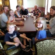 Grandparents Day-Eagan Pointe Senior Living-Eagan Pointe grand kids enjoying ice cream