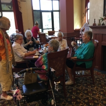 Tenant Appreciation Lunch-Eagan Pointe Senior Living-Group of tenants chatting over lunch