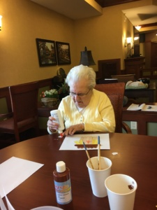 Scarecrow Crafts-Eagan Pointe Senior Living-Time for the glue