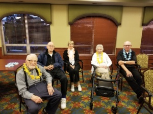 Veterans of Eagan Pointe-Eagan Pointe Senior Living-Veterans attending war presentation