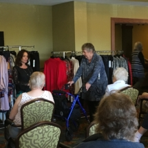 Fall Fashion Show-Eagan Pointe Senior Living-Beautiful blue sweater