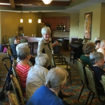 Fall Fashion Show-Eagan Pointe Senior Living-Soft striped sweater