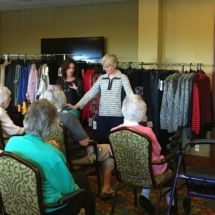 Fall Fashion Show-Eagan Pointe Senior Living-Posing for everyone to see