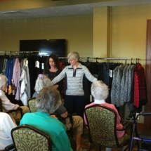 Fall Fashion Show-Eagan Pointe Senior Living-Model pose