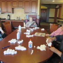 Easter Crafts at Eagan Pointe Senior Living