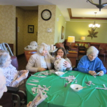 Making Pinatas at Eagan Pointe Senior Living