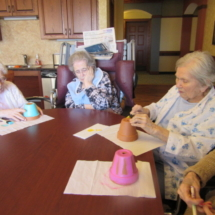 Decorating Pots at Eagan Pointe Senior Living