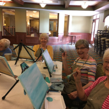 Painting Class at Eagan Pointe Senior Living