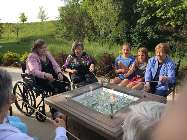 S'mores at Eagan Pointe Senior Living