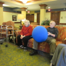 Ball Toss at Eagan Pointe Senior Living