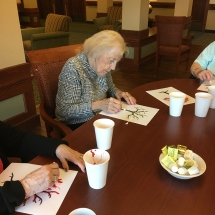 Tree Painting at Eagan Pointe Senior Living October 2018 (1)
