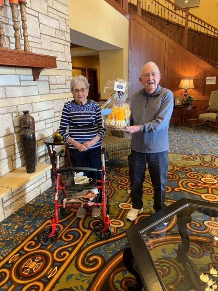 Stuart and Frances U. had their 70th wedding anniversary on January 18.